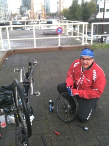 A puncture in Rotterdam